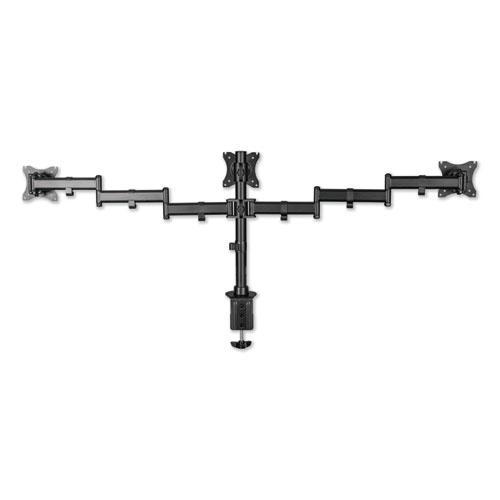 "AdaptivErgo Pole-Mount Triple Arm for 27"" Monitors, 360 deg Rotation, +45/-45 deg Tilt, 45 deg Pan, Black, Supports 17.6 lb. Picture 5"