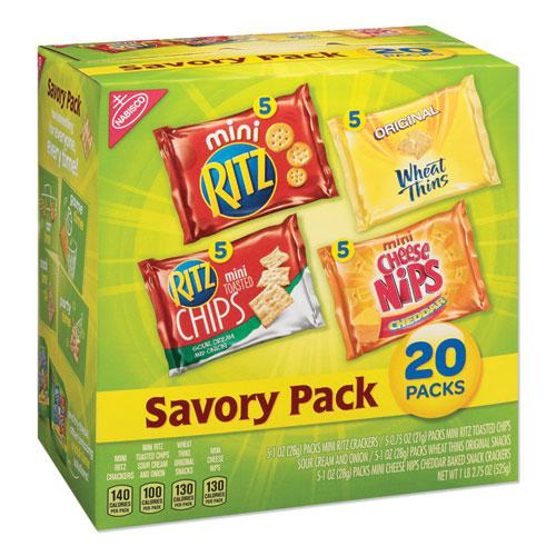 Savory Variety Pack, Assorted Cracker Varieties and Sizes, 20/Carton. Picture 1