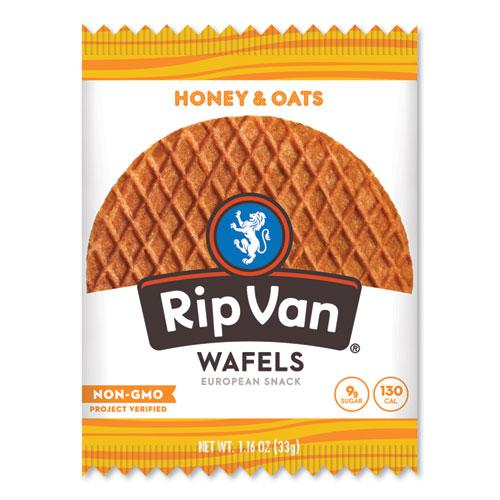 Wafels - Single Serve, Honey and Oats, 1.16 oz Pack, 12/Box. Picture 1