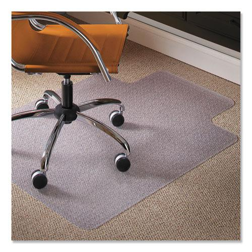 Natural Origins Chair Mat with Lip For Carpet, 45 x 53, Clear. Picture 1