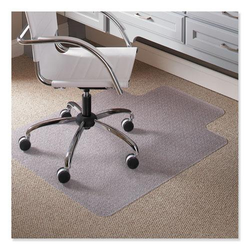 """Task Series Chair Mat with AnchorBar for Carpet up to 0.25"""", 36 x 48, Clear. Picture 1"""