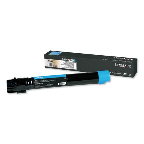 C950X2CG Extra High-Yield Toner, 22,000 Page-Yield, Cyan. Picture 1