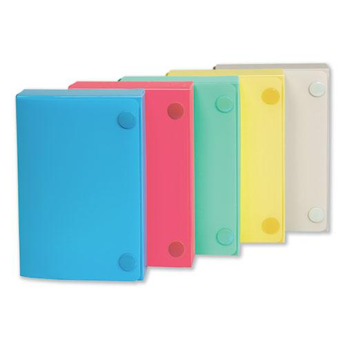 Index Card Case, Holds 100 3 x 5 Cards, 5.38 x 1.25 x 3.5, Polypropylene, Assorted Colors. Picture 1