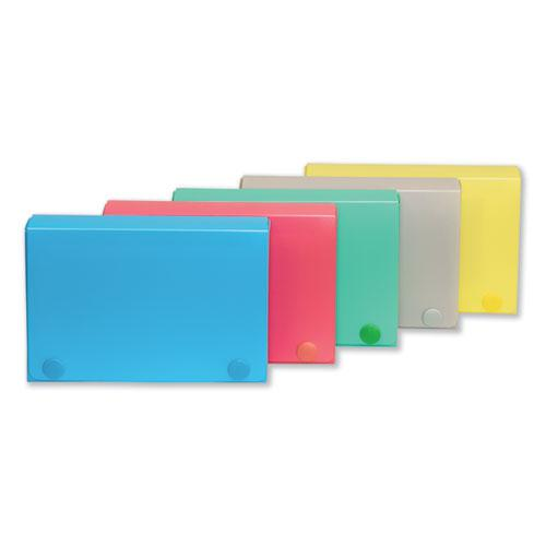 Index Card Case, Holds 100 3 x 5 Cards, 5.38 x 1.25 x 3.5, Polypropylene, Assorted Colors. Picture 2