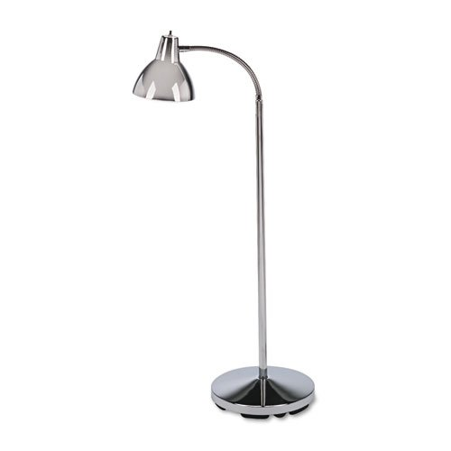 """Classic Incandescent Exam Lamp, Three Prong, 74""""h, Gooseneck, Stainless Steel. Picture 1"""