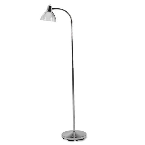 """Classic Incandescent Exam Lamp, Three Prong, 74""""h, Gooseneck, Stainless Steel. Picture 2"""