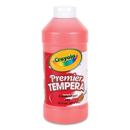 Premier Tempera Paint, Fluorescent Red, 16 oz. Picture 1