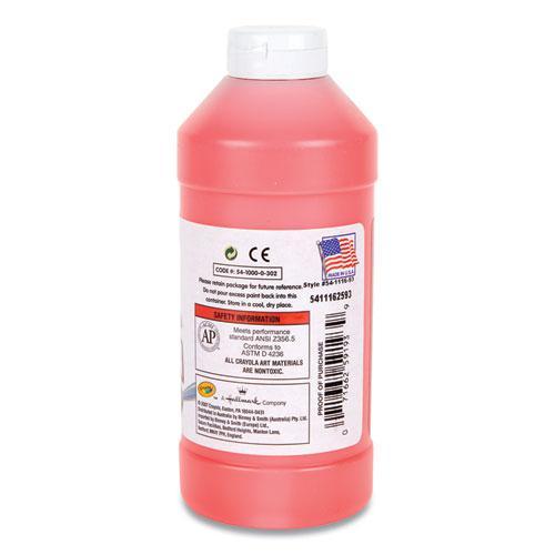 Premier Tempera Paint, Fluorescent Red, 16 oz. Picture 2