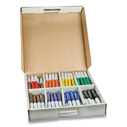 Washable Marker, Broad Bullet Tip, Assorted Colors, 200/Carton. Picture 1