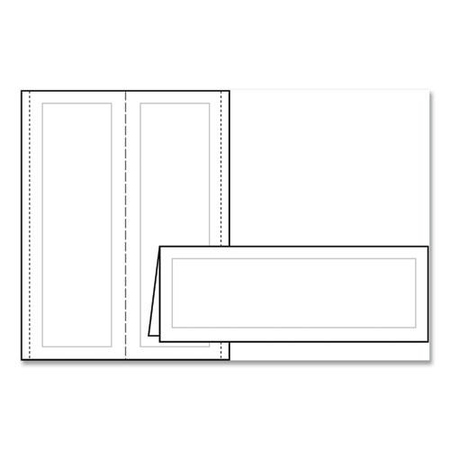 Large Embossed Tent Card, White, 3 1/2 x 11, 1 Card/Sheet, 50/Box. Picture 5