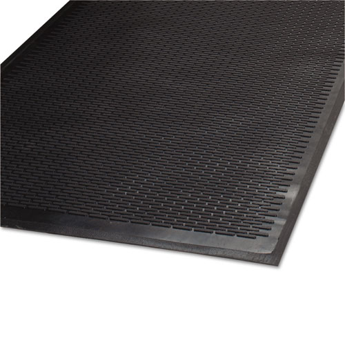 Clean Step Outdoor Rubber Scraper Mat, Polypropylene, 36 x 60, Black. Picture 1