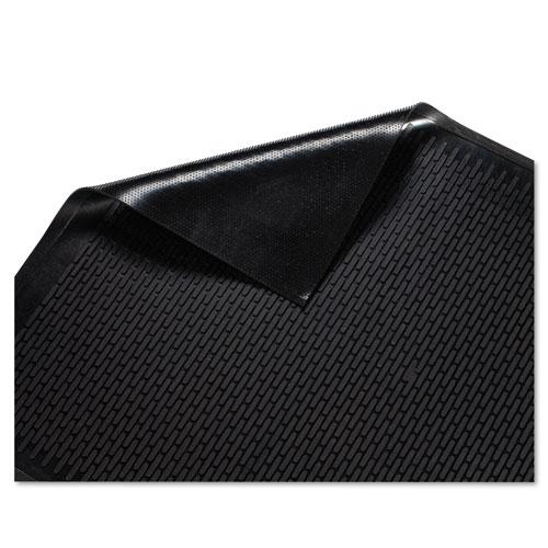 Clean Step Outdoor Rubber Scraper Mat, Polypropylene, 36 x 60, Black. Picture 2