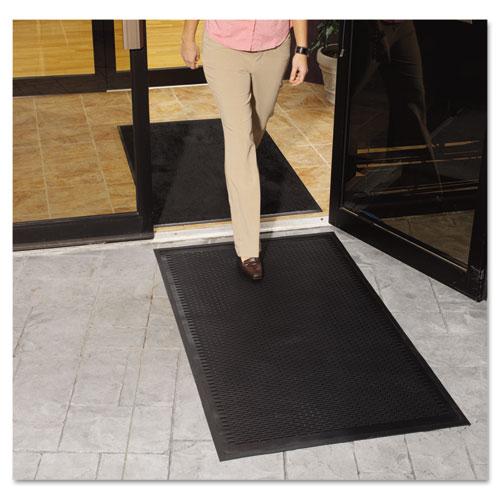 Clean Step Outdoor Rubber Scraper Mat, Polypropylene, 36 x 60, Black. Picture 3