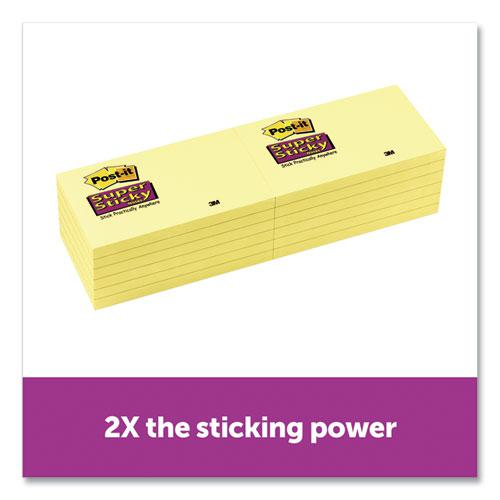 Canary Yellow Note Pads, 3 x 5, 90-Sheet, 12/Pack. Picture 2