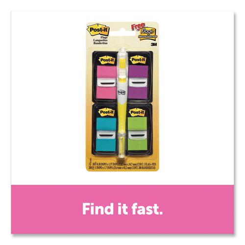 Page Flag Value Pack, Assorted Colors, 200 Flags and Highlighter with 50 Flags. Picture 2