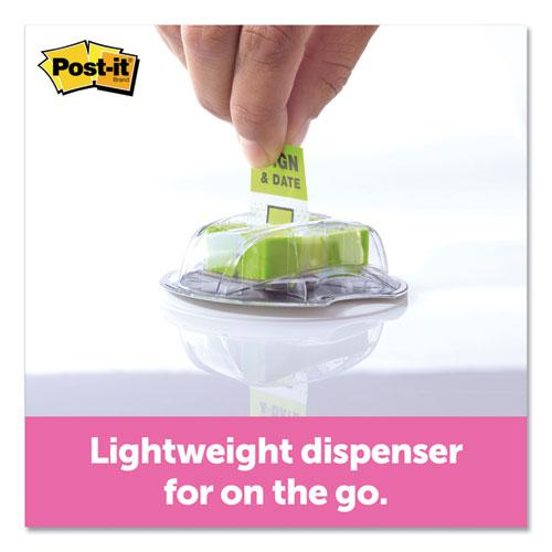 """Page Flags in Dispenser, """"Sign and Date"""", Bright Green, 200 Flags/Dispenser. Picture 2"""