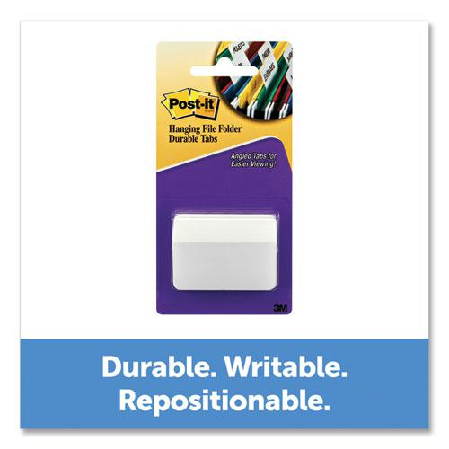 """2"""" Angled Tabs, Color Bar, 1/5-Cut Tabs, White, 2"""" Wide, 50/Pack. Picture 4"""