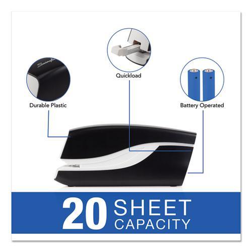 Breeze Automatic Stapler, 20-Sheet Capacity, Black. Picture 6