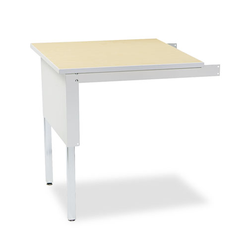 Mailflow-To-Go Mailroom System Table, 30w x 30d x 29-36h, Pebble Gray. Picture 1