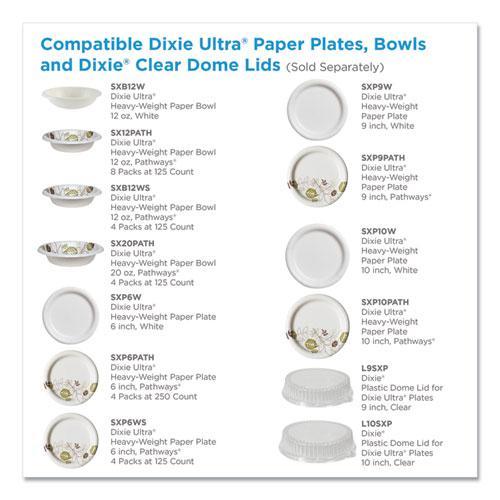 "Pathways Soak Proof Shield Heavyweight Paper Plates, WiseSize, 8 1/2"", 500/Ctn. Picture 6"