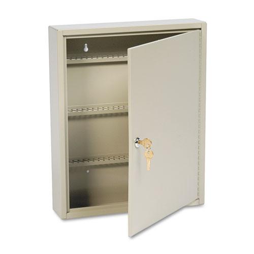 Uni-Tag Key Cabinet, 110-Key,Steel, Sand, 14 x 3 1/8 x 17 1/8. Picture 1