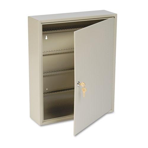 Uni-Tag Key Cabinet, 160-Key, Steel, Sand, 16 1/2 x 4 7/8 x 20 1/8. Picture 2