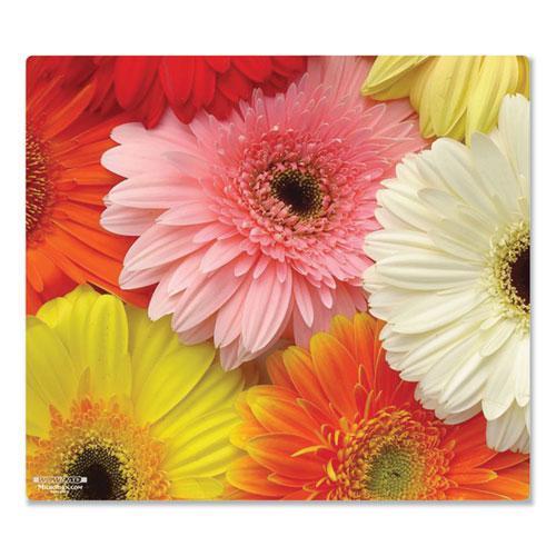 Mouse Pad, Floral Gerberas Design, 7.5 x 8.5, Multicolor. Picture 1