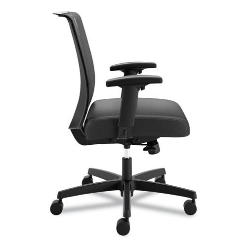 Convergence Mid-Back Task Chair with Syncho-Tilt Control, Supports up to 275 lbs, Black Seat, Black Back, Black Base. Picture 4