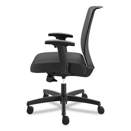 Convergence Mid-Back Task Chair with Syncho-Tilt Control, Supports up to 275 lbs, Black Seat, Black Back, Black Base. Picture 3