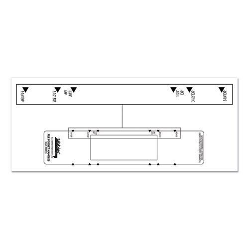 File Pocket Handles, 9.63 x 2, White, 4/Sheet, 12 Sheets/Pack. Picture 4