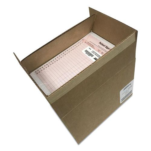 Patient Sign-In Label Forms, 8 1/2 x 11 5/8, 125 Sheets/Pack, Salmon. Picture 2