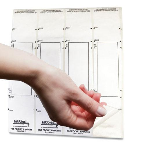 File Pocket Handles, 9.63 x 2, White, 4/Sheet, 12 Sheets/Pack. Picture 10