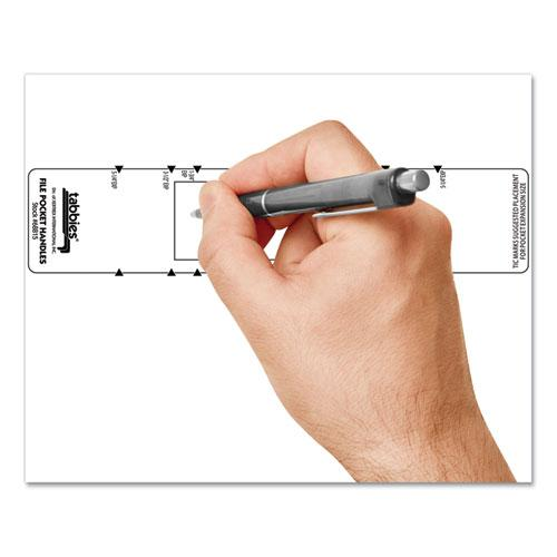 File Pocket Handles, 9.63 x 2, White, 4/Sheet, 12 Sheets/Pack. Picture 9
