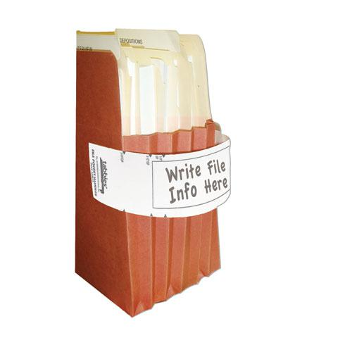 File Pocket Handles, 9.63 x 2, White, 4/Sheet, 12 Sheets/Pack. Picture 2