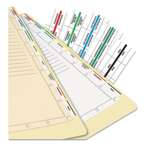 Medical Chart Index Divider Sheets, 11 x 8.5, White, 400/Box. Picture 2