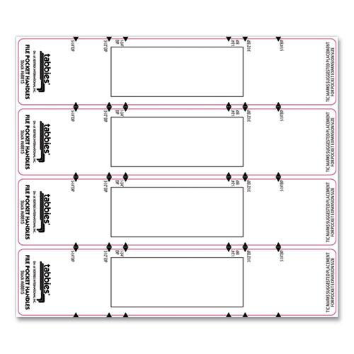 File Pocket Handles, 9.63 x 2, White, 4/Sheet, 12 Sheets/Pack. Picture 7