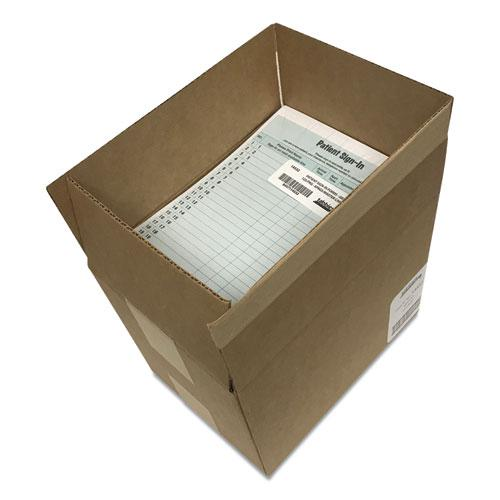 Patient Sign-In Label Forms, 8 1/2 x 11 5/8, 125 Sheets/Pack, Green. Picture 3