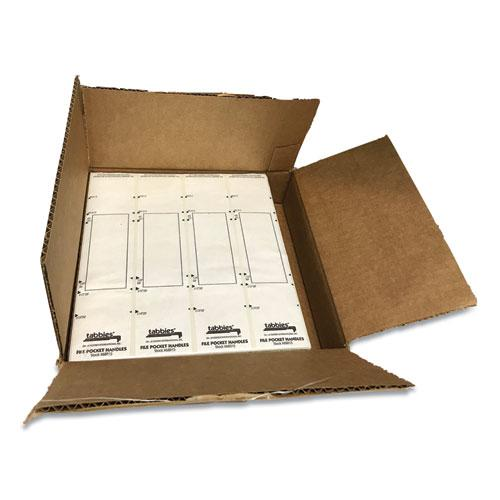 File Pocket Handles, 9.63 x 2, White, 4/Sheet, 12 Sheets/Pack. Picture 6