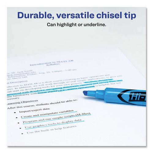 HI-LITER Desk-Style Highlighters, Chisel Tip, Light Blue, Dozen, (7746). Picture 6