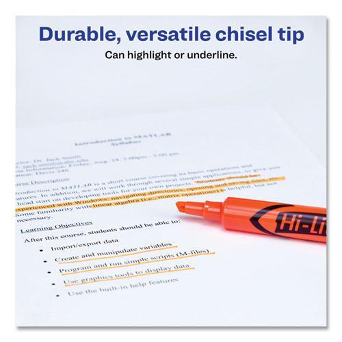 HI-LITER Desk-Style Highlighters, Chisel Tip, Fluorescent Orange, Dozen. Picture 7