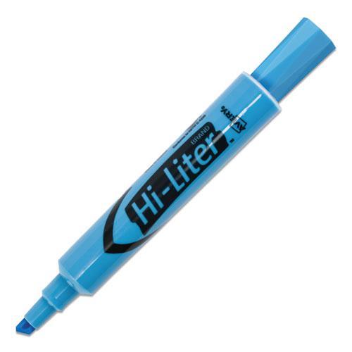 HI-LITER Desk-Style Highlighters, Chisel Tip, Light Blue, Dozen, (7746). Picture 7