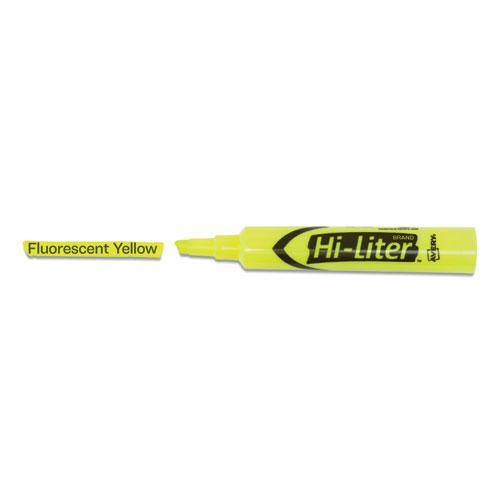 HI-LITER Desk-Style Highlighters, Chisel Tip, Fluorescent Yellow, Dozen. Picture 3