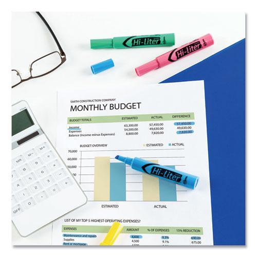 HI-LITER Desk-Style Highlighters, Chisel Tip, Assorted Colors, 4/Set. Picture 2