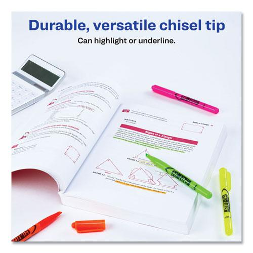 HI-LITER Pen-Style Highlighters, Chisel Tip, Assorted Colors, 6/Set. Picture 6