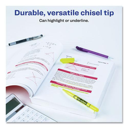 HI-LITER Pen-Style Highlighters, Chisel Tip, Fluorescent Yellow, Dozen. Picture 8