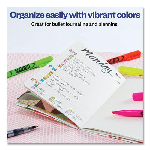 HI-LITER Pen-Style Highlighters, Chisel Tip, Fluorescent Yellow, Dozen. Picture 7