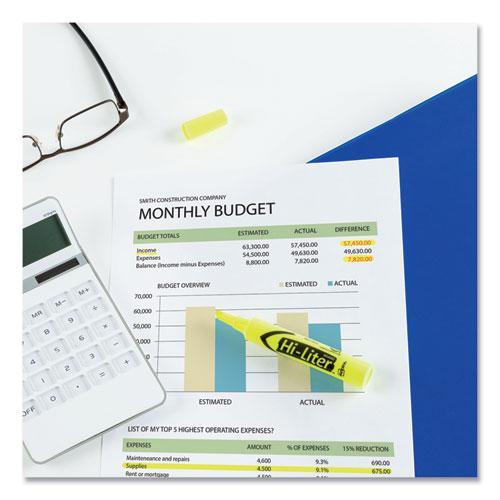 HI-LITER Desk-Style Highlighters, Chisel Tip, Fluorescent Yellow, Dozen. Picture 7