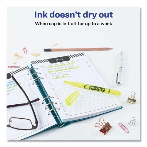 HI-LITER Pen-Style Highlighters, Chisel Tip, Fluorescent Yellow, Dozen. Picture 2
