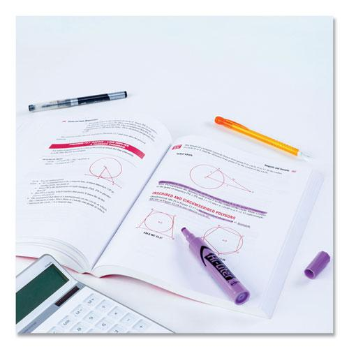 HI-LITER Desk-Style Highlighters, Chisel Tip, Fluorescent Purple, Dozen. Picture 2
