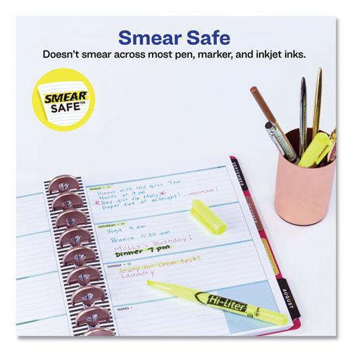 HI-LITER Pen-Style Highlighters, Chisel Tip, Fluorescent Yellow, Dozen. Picture 4